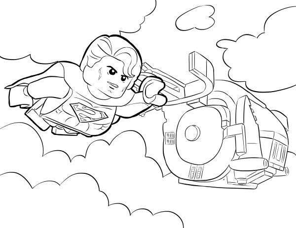lego superman coloring pages # 24