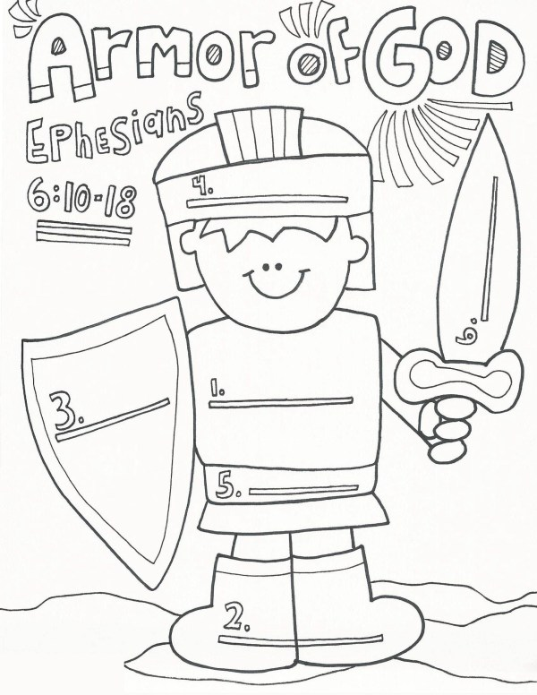 armor of god coloring page # 51