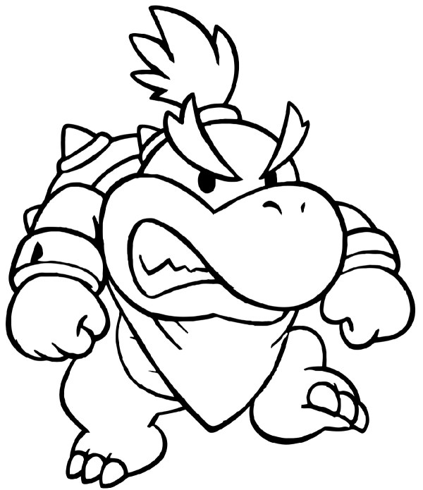 bowser coloring page # 41