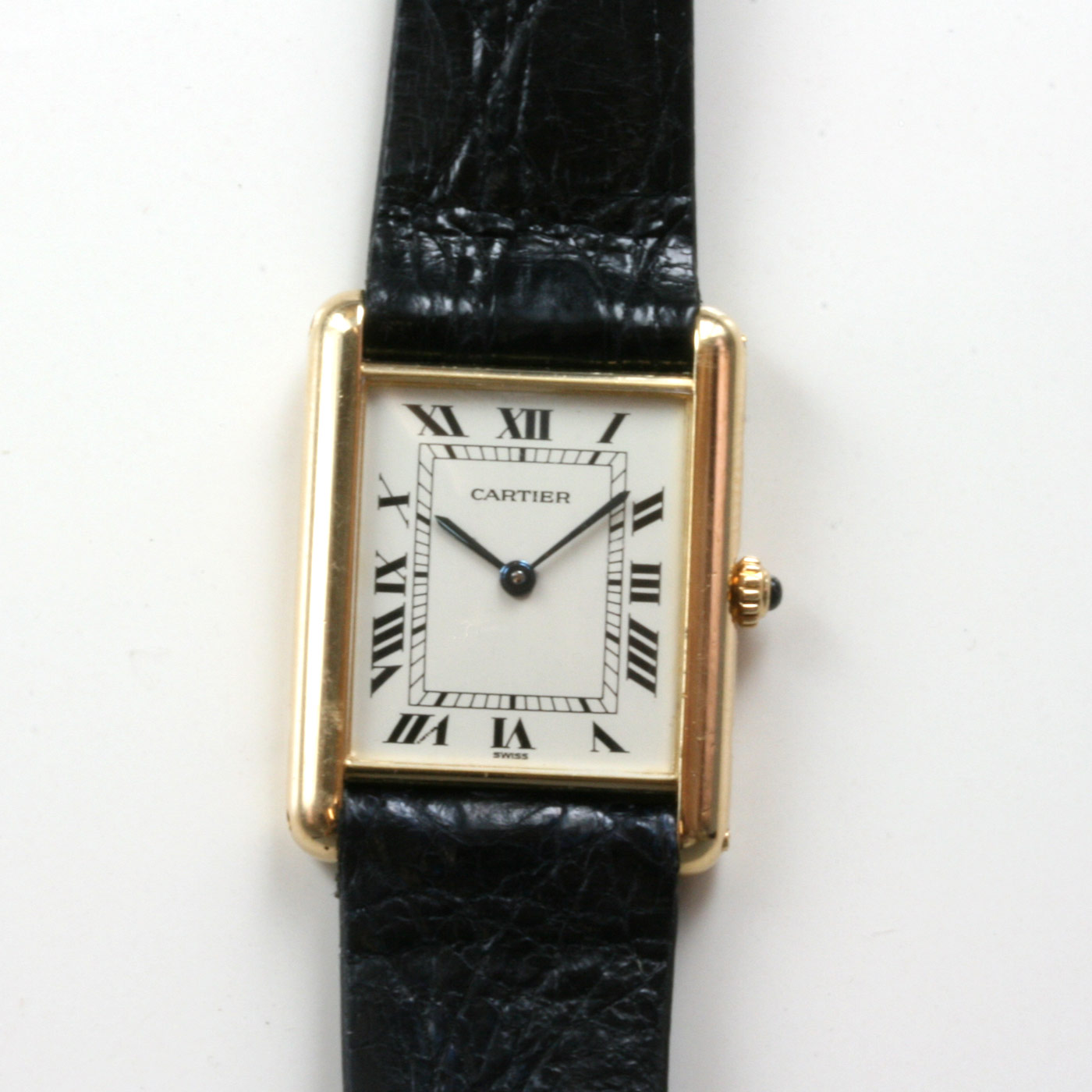 Buy Gents Cartier Tank watch in 18ct gold Sold Items  Sold Watches     Gents Cartier Tank watch in 18ct gold