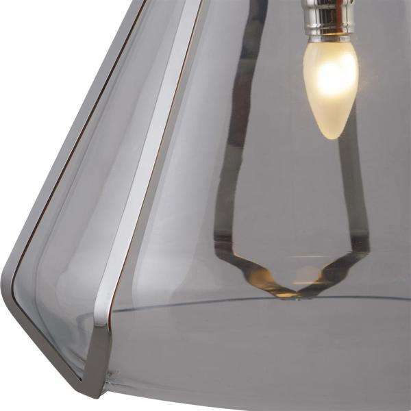 Kelly Hoppen Burton Modern Classic Stainless Steel Glass Shade         Kelly Hoppen Burton Modern Classic Stainless Steel Glass Shade Pendant  Light   Kathy Kuo Home