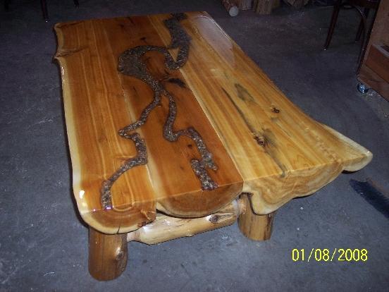 Eastern Red Cedar Log Bed