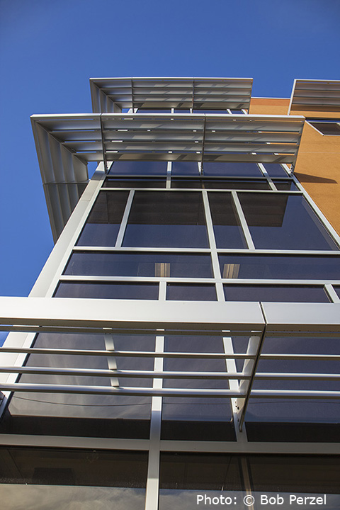 Versoleil Outrigger Sun Shade System For Curtain Walls