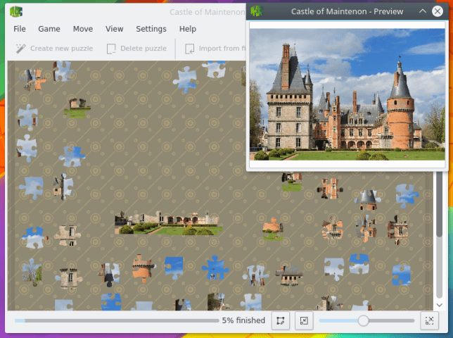 KDE   Palapeli   Jigsaw puzzle game Palapeli is a single player jigsaw puzzle game  Unlike other games in that  genre  you are not limited to aligning pieces on imaginary grids