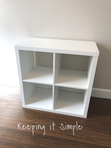 Ikea Hack  DIY Computer Desk with Kallax Shelves     Keeping it Simple     about these shelves is that they come in a variety of colors  so you  could really have fun with it  I used white but another color would be so  much fun