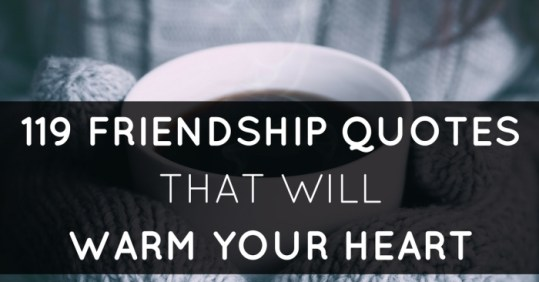 119 Quotes on Friendship To Warm Your Best Friend s Heart friendship quotes