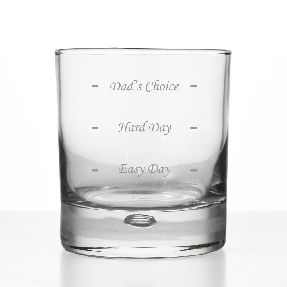 Personalised Drinks Measure Whisky Glass