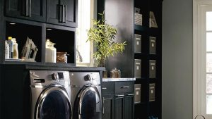Dark Gray Laundry Cabinets Kemper Cabinetry