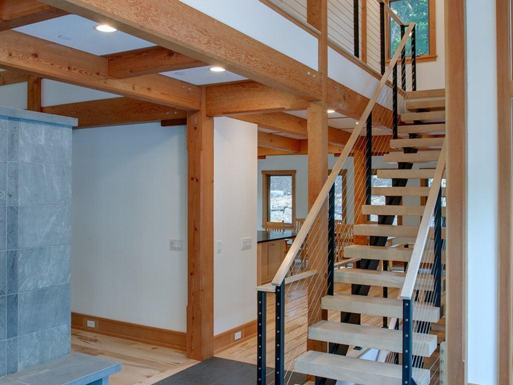 6 Popular Cable Railing Color Options Keuka Studios | Teak Wood Staircase Railings | Wood Frame | Hand | Sitout | Wood Carving | Lakdi