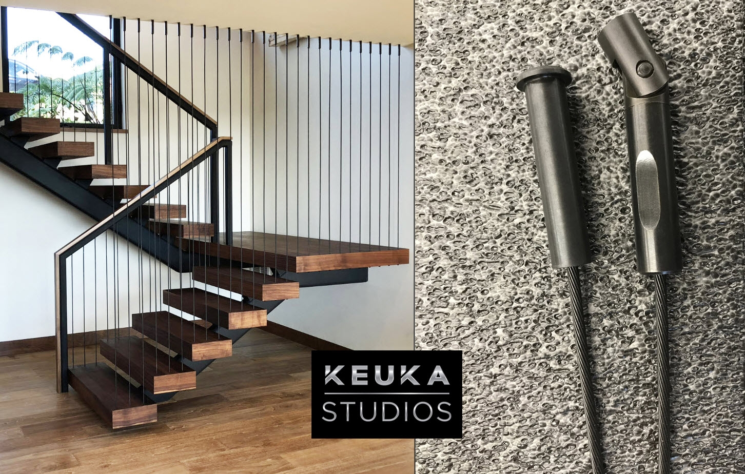 Black Stainless Steel Cable Railing And Fittings Keuka Studios   Steel Cable Stair Railing   Diy   White   Balcony   Steel Wire   Industrial