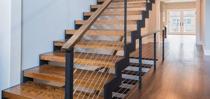 6 Types Of Stair Treads What To Know Before Choosing Various | Types Of Wooden Stairs | Rustic Wooden | Storage | Separated | Staircase | Vertical Wood
