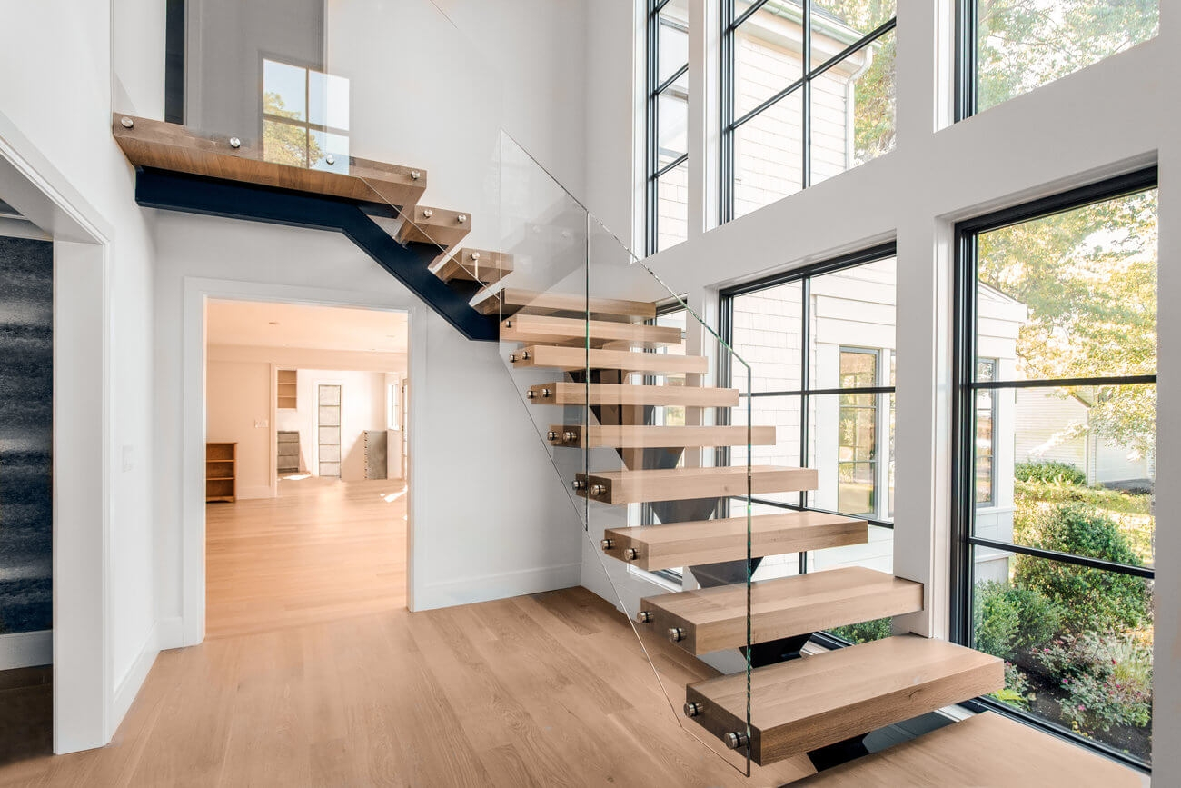 Types Of Stairs Advantages Disadvantages | Stairs With Glass Sides