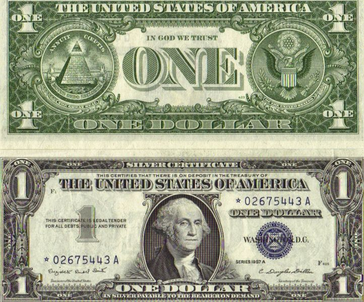 What Looks One Dollar Bill Us
