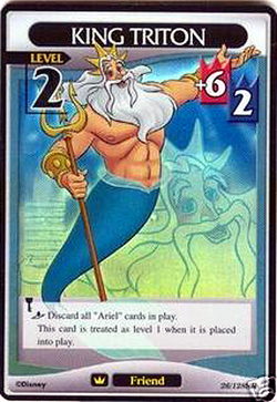 Card King Triton Kingdom Hearts Wiki The Kingdom Hearts