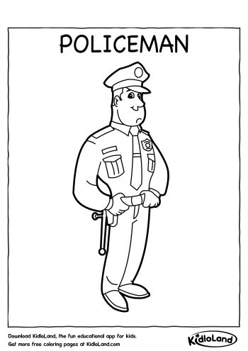policeman coloring page # 9