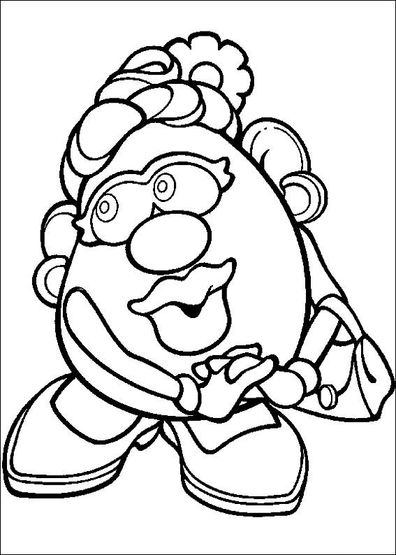 mr potato head coloring pages # 7