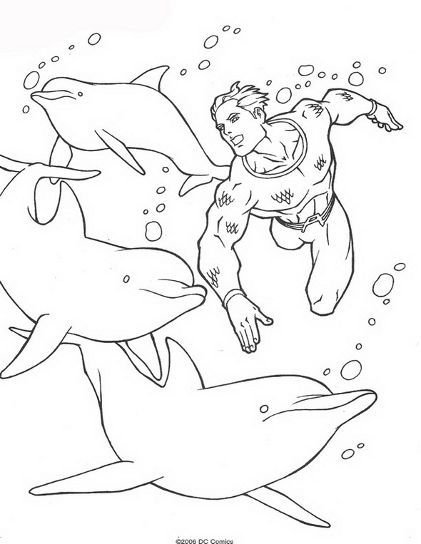aquaman coloring pages # 34