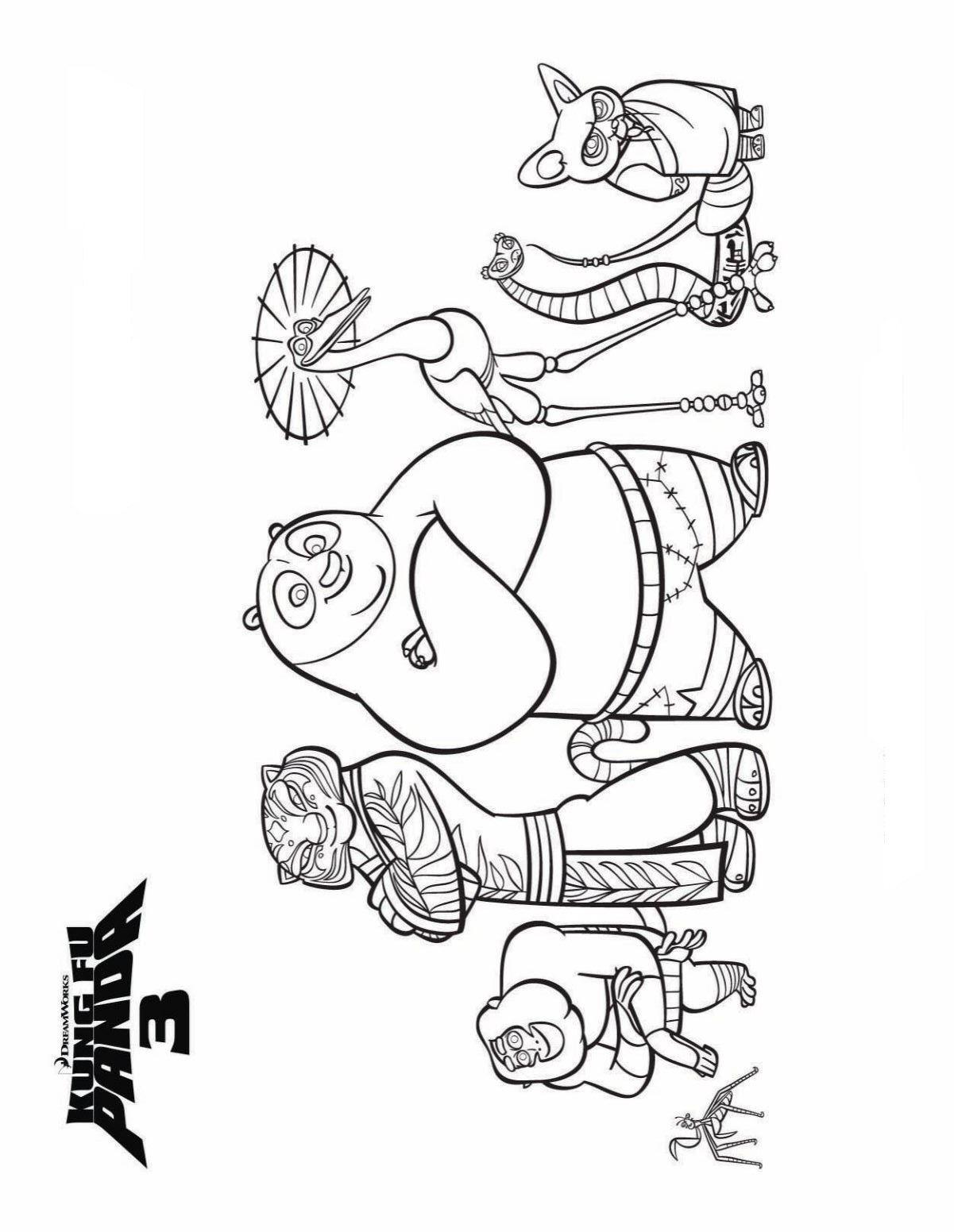 Kids N Fun 7 Coloring Pages Of Kung Fu Panda 3