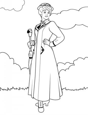 mary poppins coloring pages # 6
