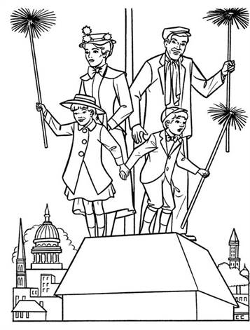 mary poppins coloring pages # 4