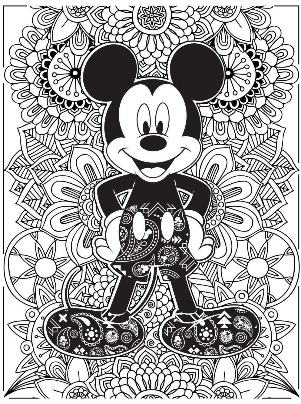 Mouse Pages And Mickey Minnie Kissing Coloring