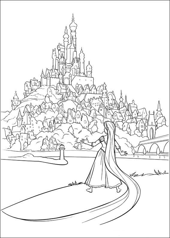 Princess Rapunzel Disney Princess Coloring Pages