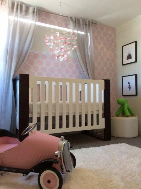 Elegant Baby Girl S Nursery In Blush And White Kidsomania