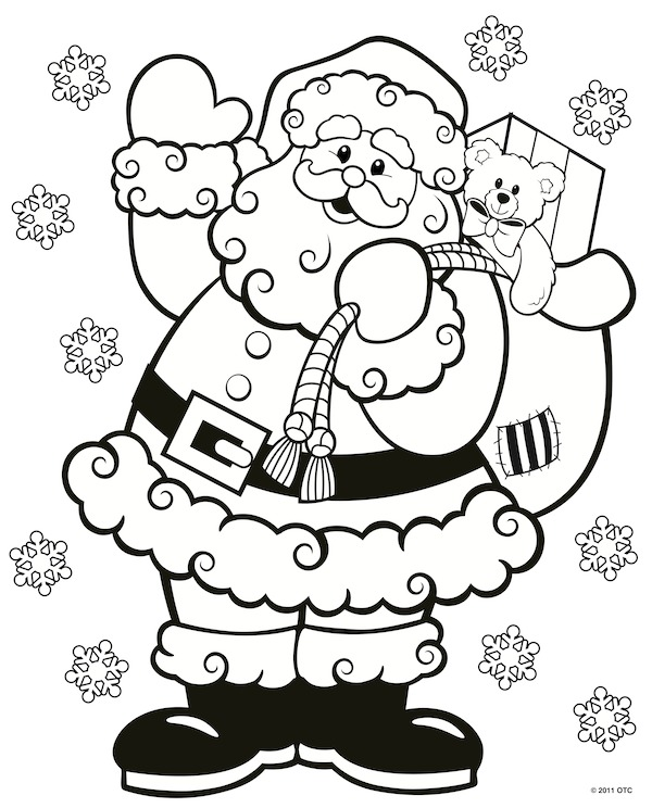 christmas coloring book pages # 46