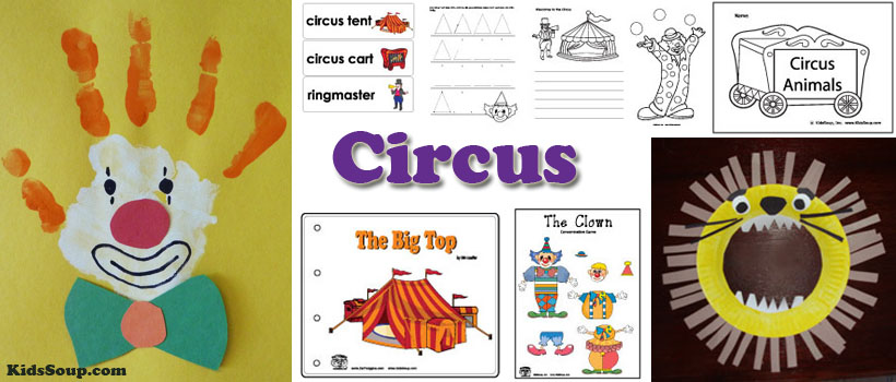 Circus Crafts  Activities  Games  and Printables   KidsSoup Circus Activities and Crafts for preschool and kindergarten
