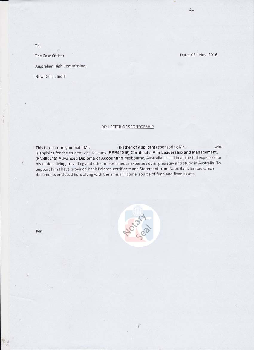 Sample affidavit of support letter for visitor visa lvelegant s le 1 thecheapjerseys Image collections