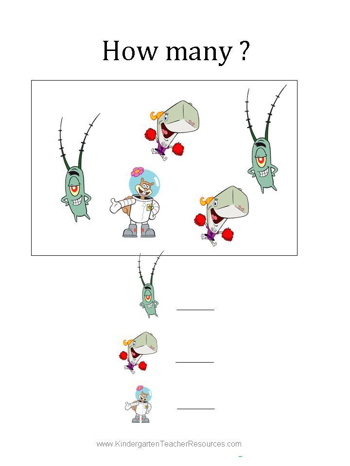 Spongebob math worksheets, love printable coloring pages