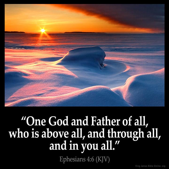 Ephesians 4 6 Inspirational Image