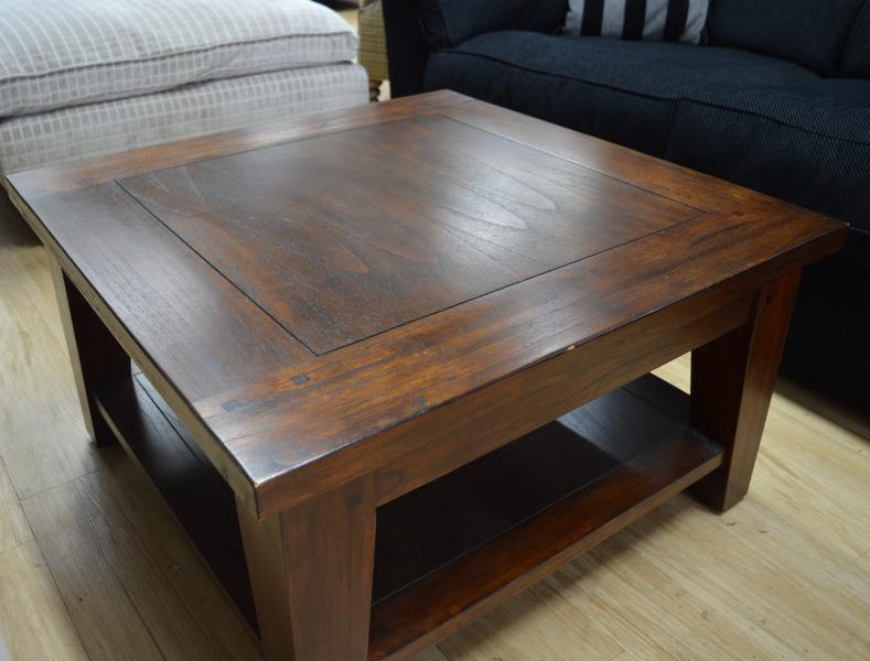 Large Dark Wood Coffee Table
