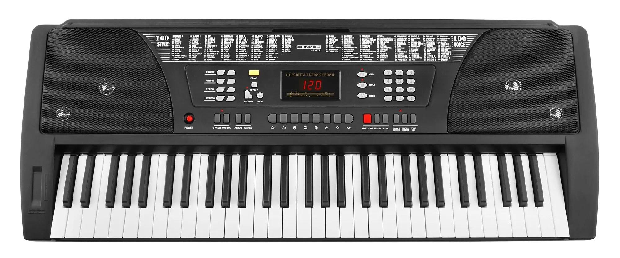 Funkey 61 Keyboard Black Set Of 7 Incl Keyboard Stand Bench