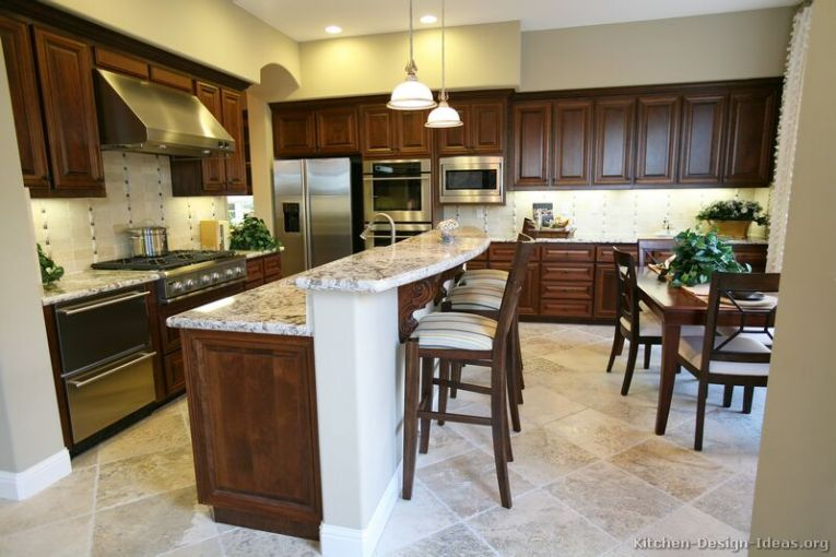 Pictures of Kitchens   Traditional   Dark Wood Kitchens  Walnut Color 25  Traditional Dark Wood Walnut Kitchen
