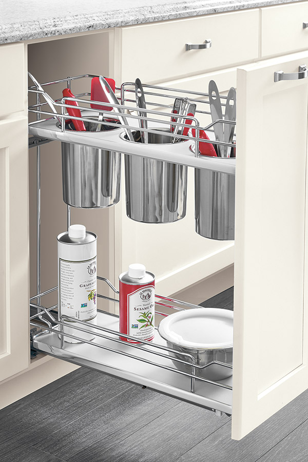 Base Utensil Holder Pull Out Cabinet Kitchen Craft