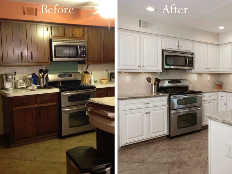 Charming Kitchen Cabinet Refacing Cabinet Resurfacing Think A Big Transformation Isn  T In Your Budget Cabinet Refacing