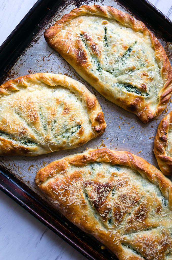 Ricotta And Spinach Calzones Kitschen Cat