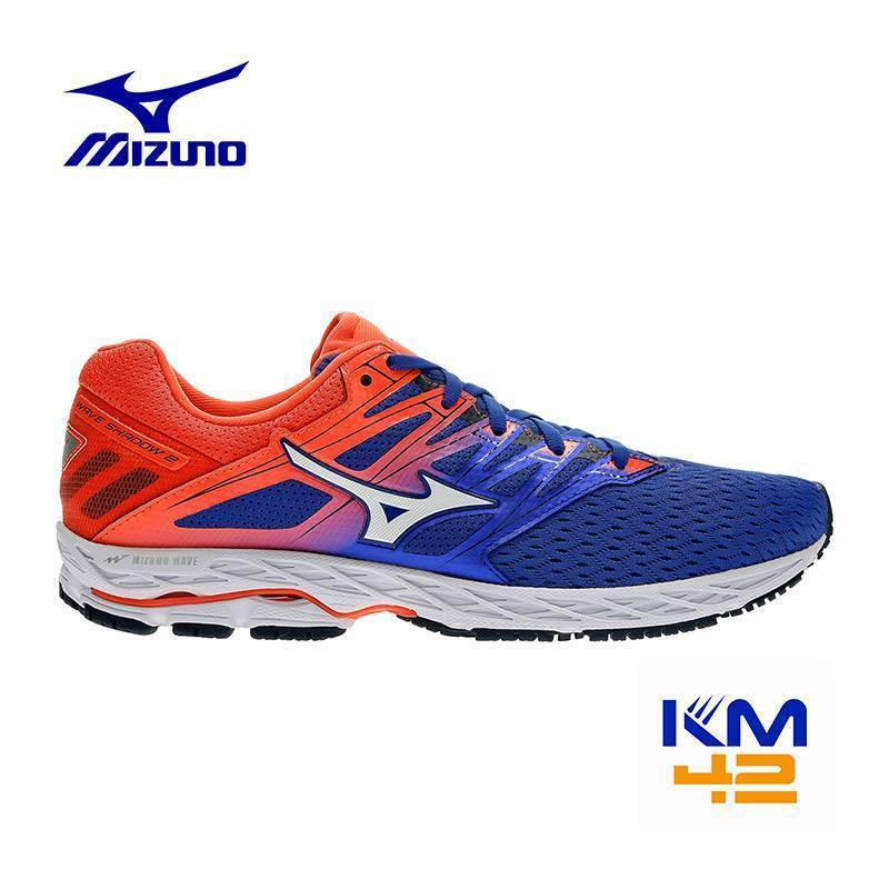 mizuno wave shadow 2 J1GC183007 donna neutra intermedia colore blu-arancio