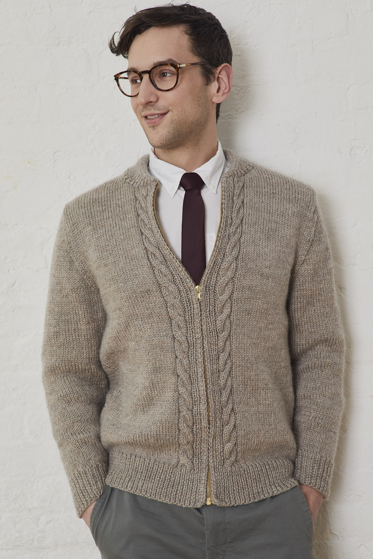 Mens Cable Knit Sweater Pattern