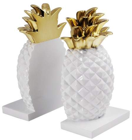 Pineapple Home Decor Products for the home for Pineapple Lovers pineapple home decor   Pineapple Bookends  Pineapple Bookends