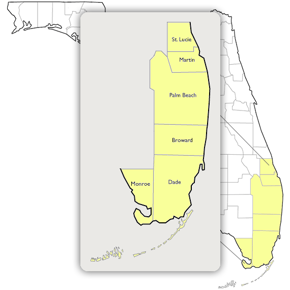 Map Of Fort Pierce Florida.Map Area Ft Pierce Florida Counties