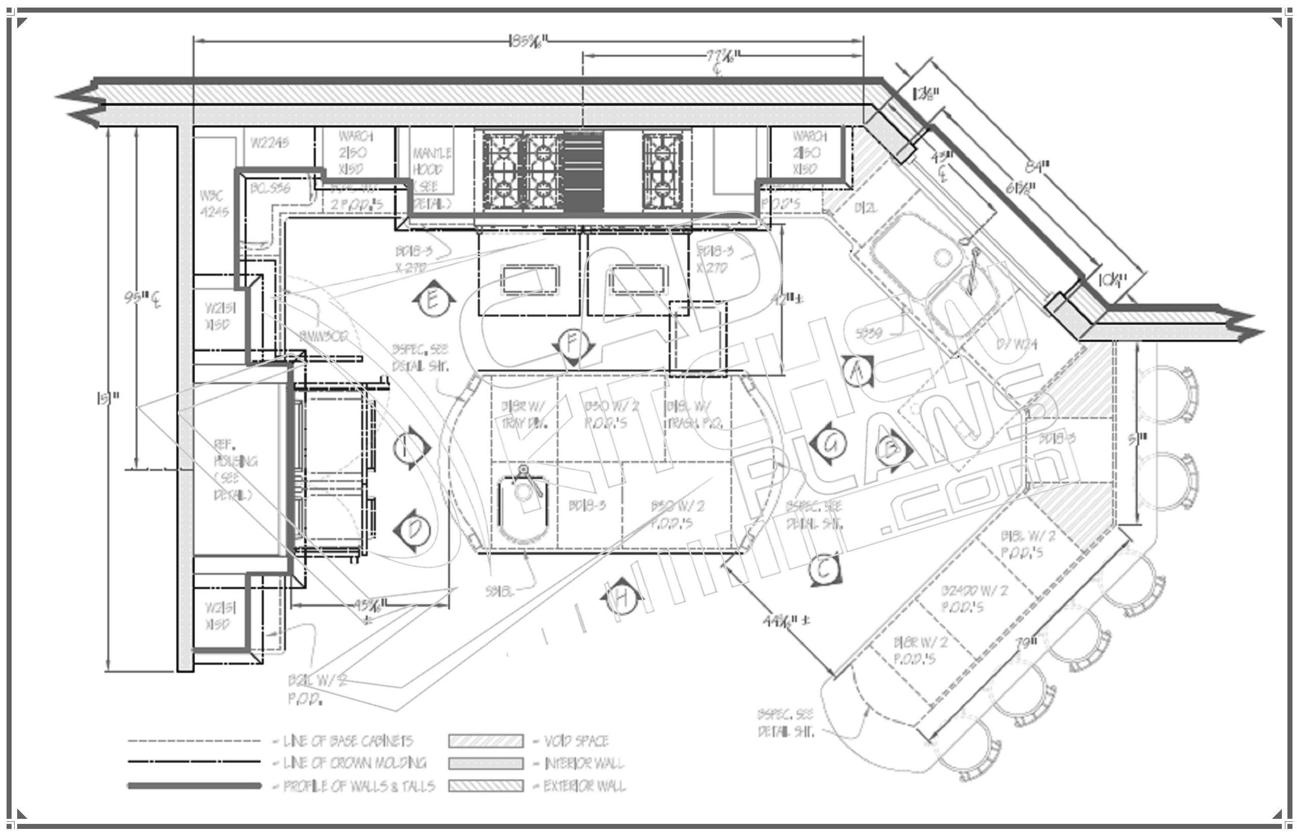 Kitchen Floor Plan Ideas Island