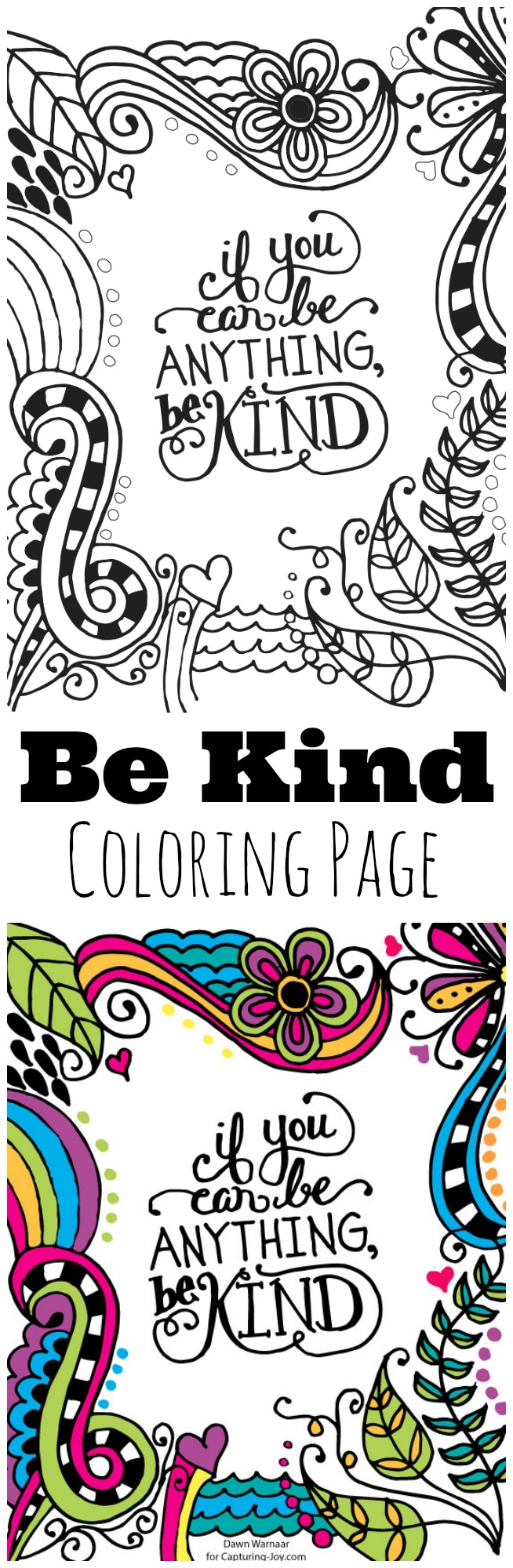 Whimsical Be Kind Print Capturing Joy With Kristen Duke