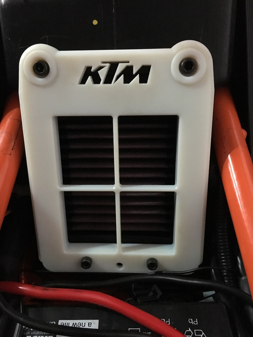 3d Printed Open Lid Air Box Cover Ktm Duke 390 Forum
