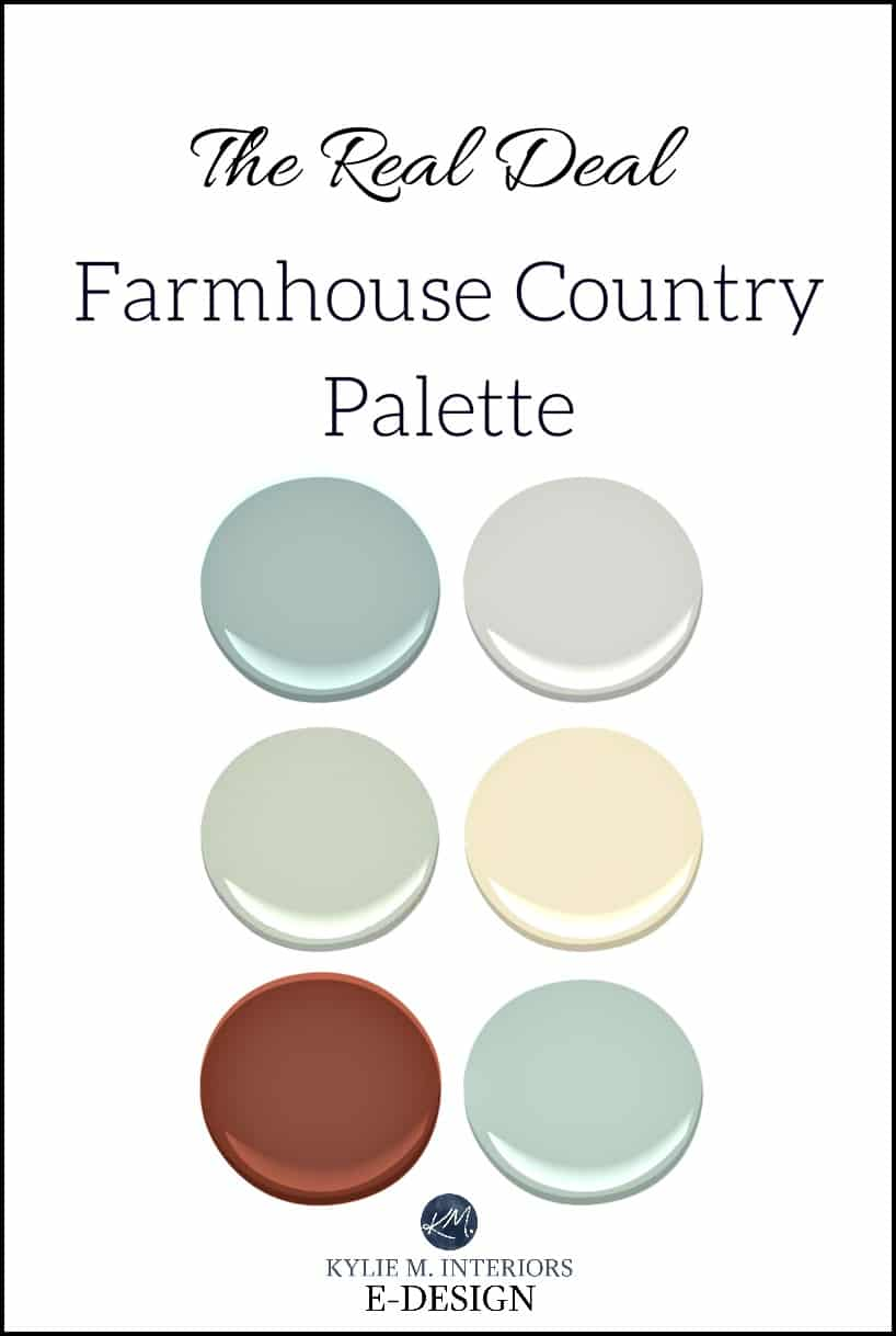 More Colourful Farmhouse Paint Colour Palette For Country