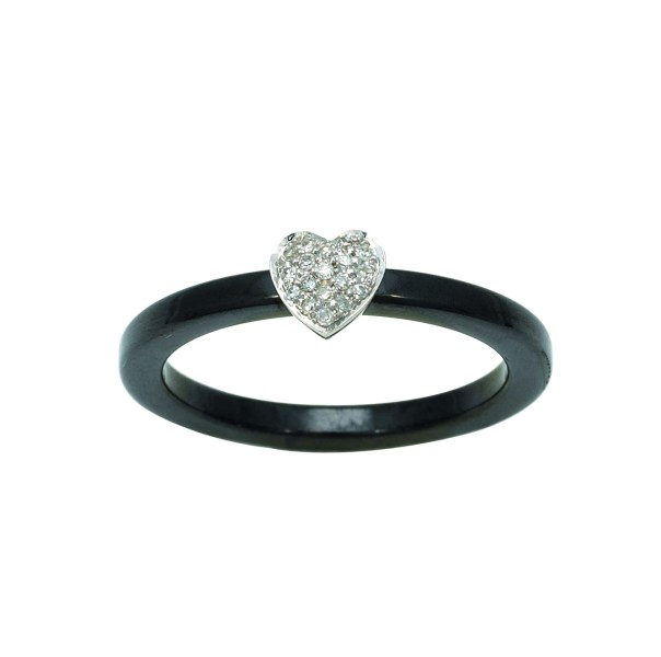 Bague c    ramique coeur diamants 0 06 carat Robbez Masson     Or blanc     Bague c    ramique coeur diamants 0 06 carat Robbez Masson   Or blanc 750   Bague  c    ramique coeur diamants 0 06 carat Robbez Masson   Or blanc 750