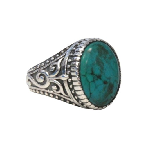 Bague Turquoise Homme Taille 61