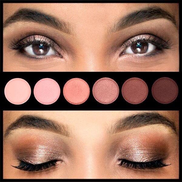 Bayang-bayang palet untuk mata coklat