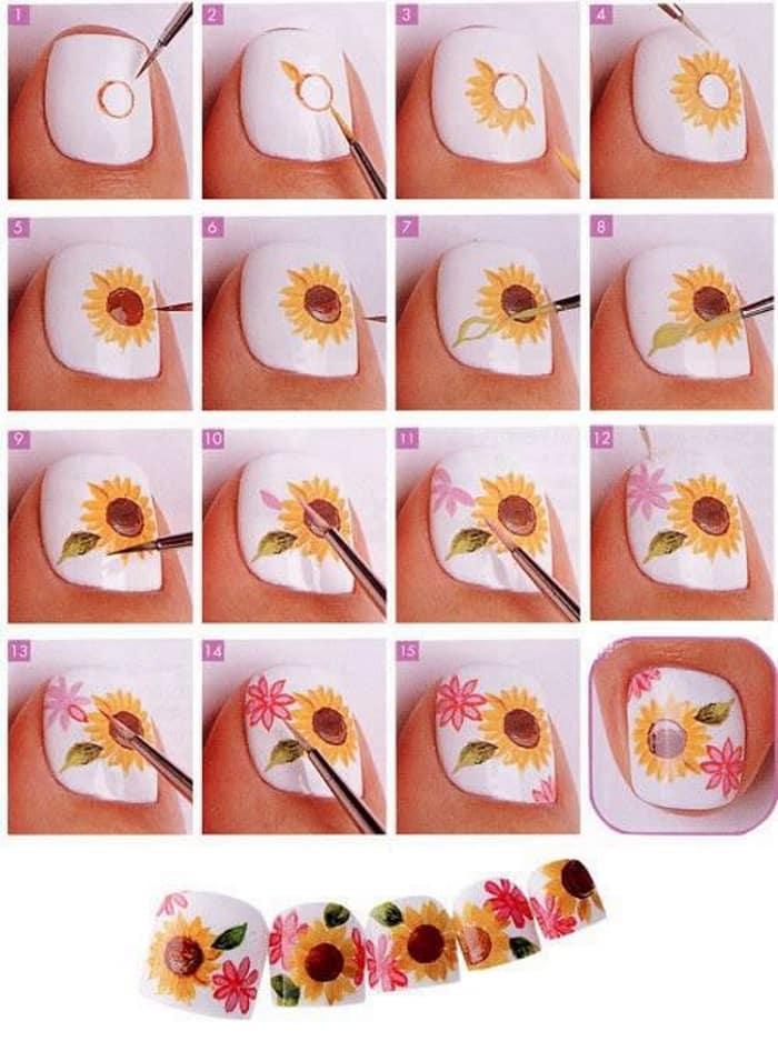 Blomsterdesign Akryl Trin for trin